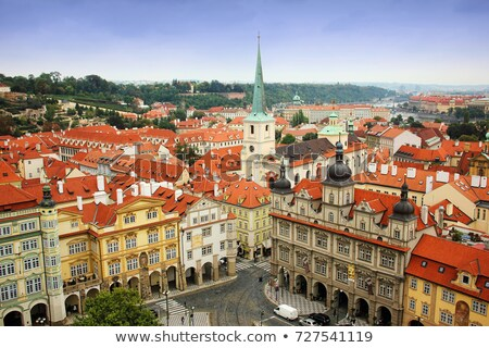 プラハ 景観 表示 旧市街 教会 チェコ語 ストックフォト © Kirill_M
