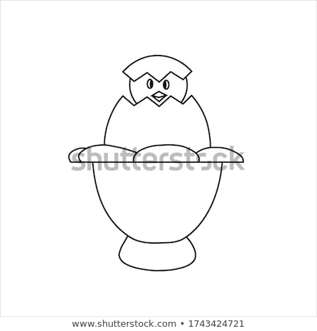 Csirke ki tojás kagyló rajz ikon Stock fotó © RAStudio