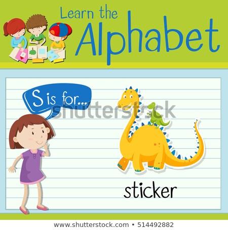 levél · papír · matrica · w · betű · piros · absztrakt - stock fotó © bluering
