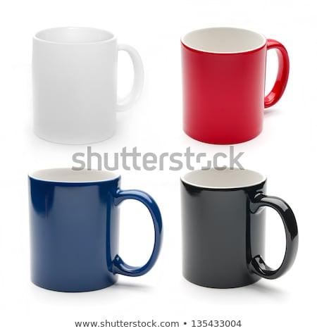 Bögre csésze szett kávé idő illusztráció Stock fotó © Andrei_
