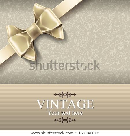 Beige satin bow Stock photo © -Baks-