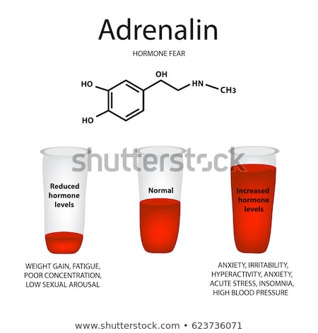 Adrenaline neurotransmitter molecule Stock photo © tussik