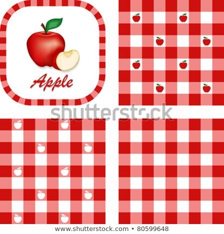 Vintage красное яблоко Label вектора стиль Сток-фото © ConceptCafe