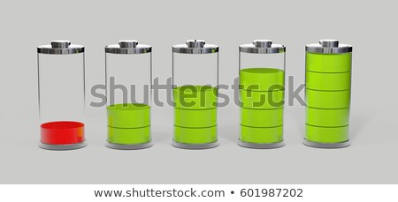 Battery charging. Battery low level, isolated on grey. 3d illustration Stock photo © tussik