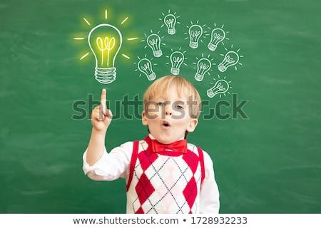 kinderen · verbeelding · schaduwen · grind · vloer - stockfoto © lightsource