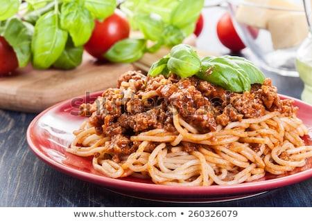 portion of boiled spaghetti stock photo © digifoodstock