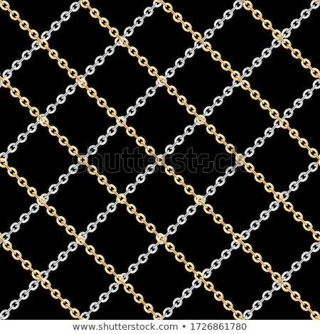 Naadloos zilver keten bal slot geïsoleerd Stockfoto © pakete