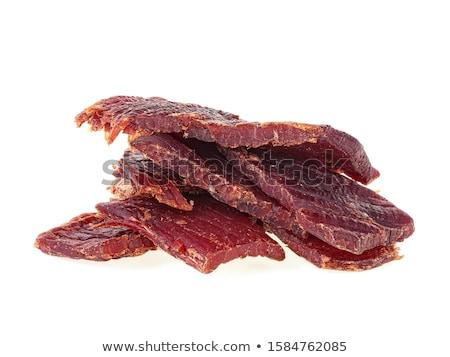 Vékony szeletek aszalt hús füstölt marinált Stock fotó © Digifoodstock