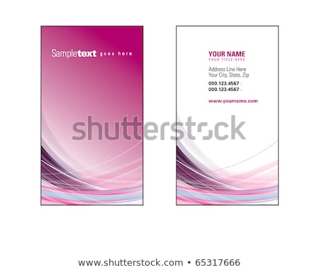 modern purple business card with crossed lines Stock photo © SArts