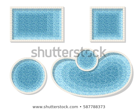 Swimming pool top view isolated on white background. Blue water Stock photo © MaryValery