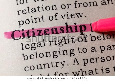 ciudadanía · palabra · ilustración · verde · pizarra · carrera - foto stock © 72soul