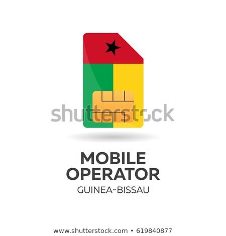 Gine · bayrak · beyaz · büyük · ayarlamak · soyut - stok fotoğraf © leo_edition