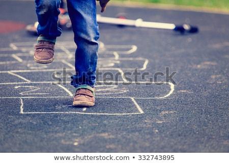 номера тротуар ребенка городского Сток-фото © stevanovicigor