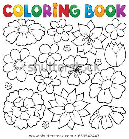 Coloring book flower topic 1 Stock photo © clairev