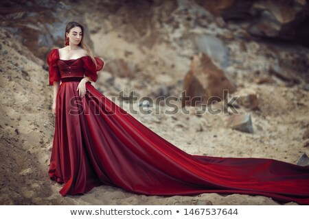 lady in red dress stock photo © manera