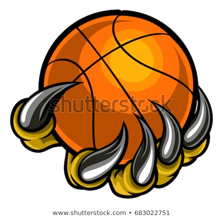 Monstre animaux griffe basket balle Photo stock © Krisdog