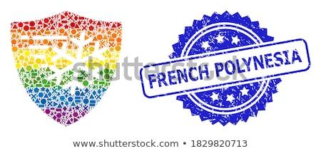 Foto stock: Francês · cor · guarda · bandeira · militar