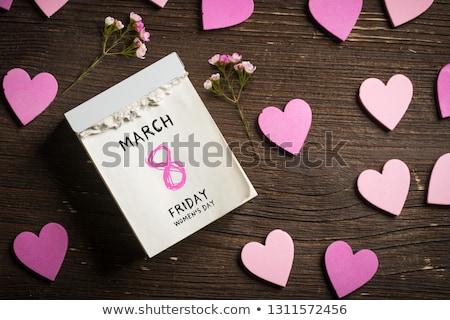 uluslararası · kırmızı · kalp · simge · sevmek - stok fotoğraf © orensila