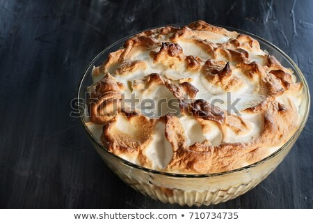 Above View of Bowl of Banana pudding Stock photo © StephanieFrey