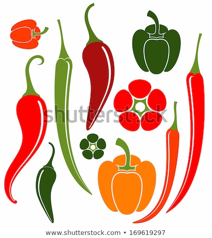 collection of chili peppers stock photo © zhekos