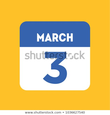 3 March  Day writer blue Stock photo © Olena