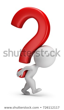 3d small people   bears the question mark stock photo © anatolym