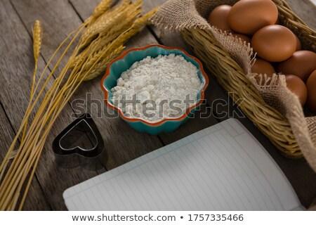 Livro ovos farinha bolinhos trigo haste Foto stock © wavebreak_media