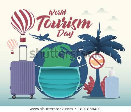 tarjeta · de · felicitación · mundo · poesía · día · vacaciones · icono - foto stock © olena