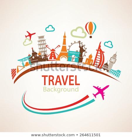 icon travels  around the world   silhouette Stock photo © Olena