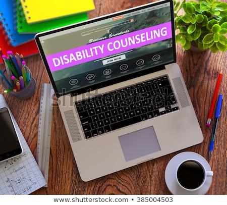 rehabilitation counseling concept on modern laptop screen stock photo © tashatuvango