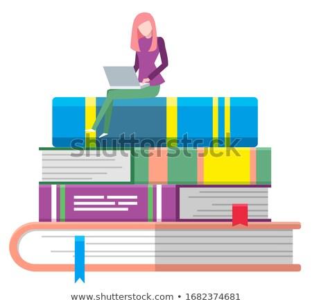 ノートパソコン 画面 ブックマーク 現代 職場 ストックフォト © tashatuvango
