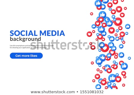 Medios de comunicación social Cartoon Internet como robot máquina Foto stock © blamb