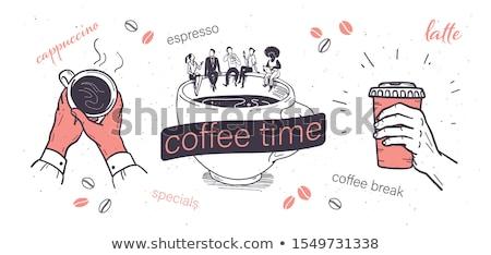 Hand Drawn Break Time on Office Chalkboard. Stock photo © tashatuvango