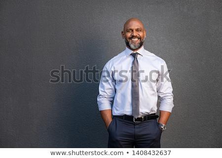 A portrait of a senior black businessman Stock photo © IS2