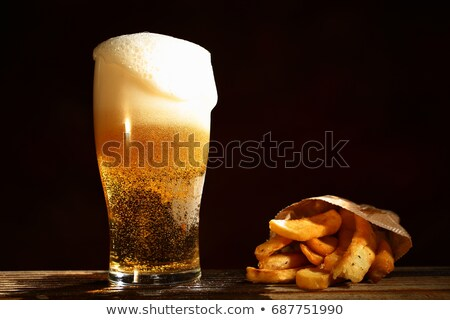 Food - french fries and beer Stock photo © IS2