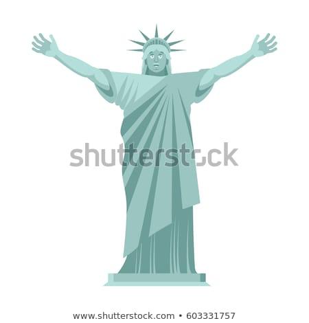 Estátua liberdade alegre feliz ponto de referência américa Foto stock © popaukropa
