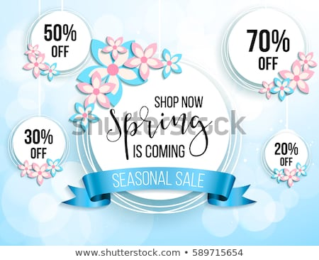 Stock fotó: Sale Poster Or Flyer Design With Gifts Discount Background For The Online Store Shop Promotional