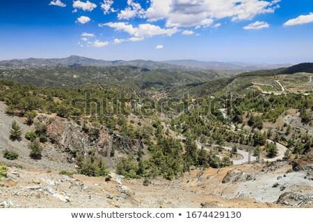 preto · pinho · montanhas · Chipre · crescente · paisagem - foto stock © Mps197