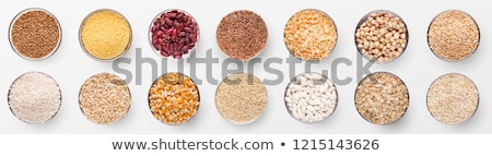 Céréales plaque riz rouge Photo stock © MaryValery