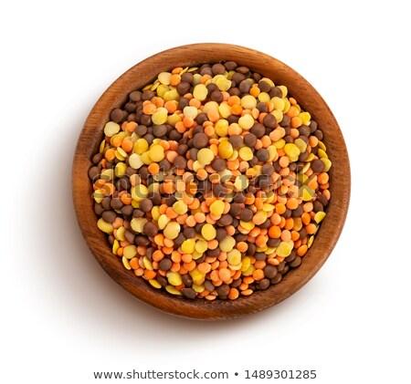 Bowl Of Raw Lentils Stock photo © mpessaris