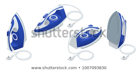 Stock photo: Electric iron isolated vector icon