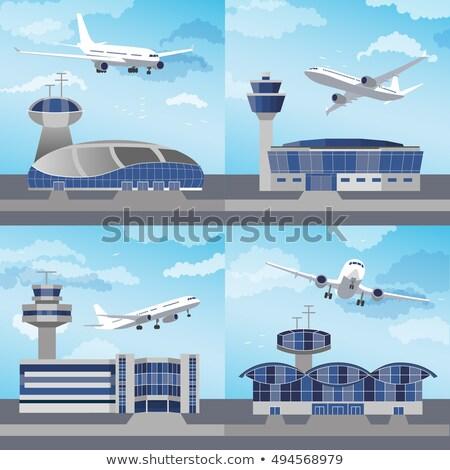 Internacional aeroporto arquitetura conjunto moderno vítreo Foto stock © studioworkstock