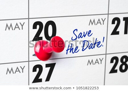 Wall calendar with a red pin - May 20 Stock photo © Zerbor