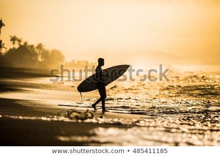 Surfer ходьбе океана человека весело волна Сток-фото © IS2