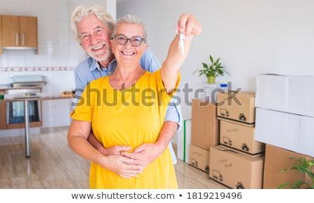 ストックフォト: 男 · キー · 笑みを浮かべて · 男性 · 成人