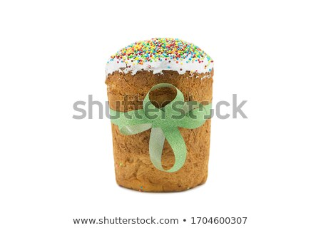 Chocolate sweet decorated with white icing egg symbol Easter present Stock photo © orensila