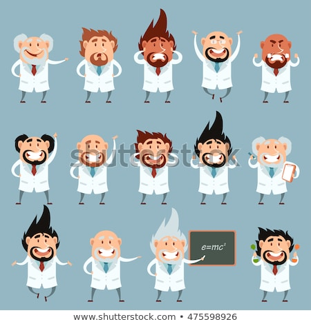 cartoon · hoogleraar · illustratie · student · mannen - stockfoto © krisdog