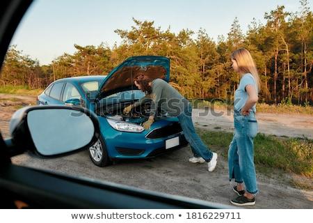 Ragazza incidente illustrazione donna faccia uomo Foto d'archivio © bluering