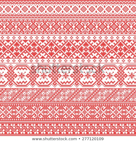 Russian old embroidery and patterns stock photo © FoxysGraphic