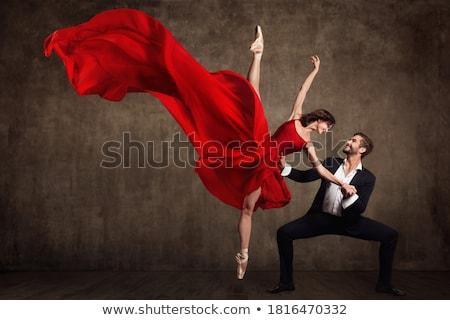 Ballerina dansen tango mooie geïsoleerd witte Stockfoto © hsfelix